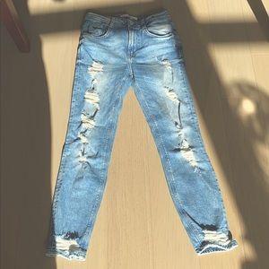 Zara distressed slimfit jeans